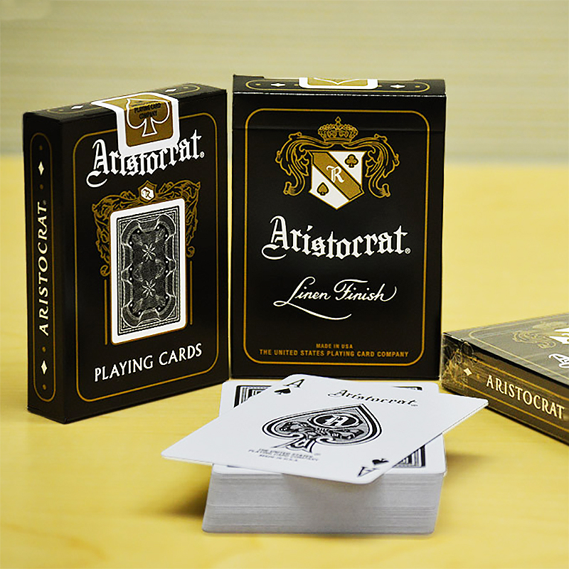 Aristocrat - Black Playing Cards