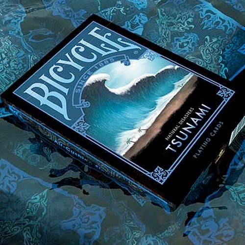 Bicycle - Natural Disasters Playing Cards - Tsunami