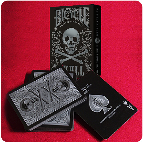 Bicycle - Skull - Silver