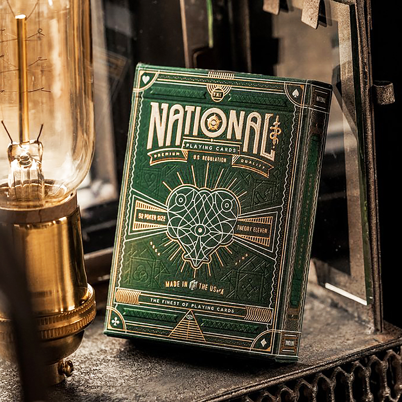 National Playing Cards - GREEN