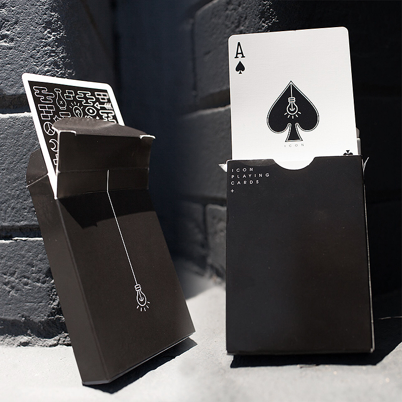 Icon Playing Cards - Black