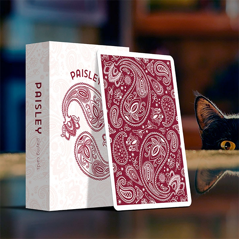 Paisley Playing Cards Ruby Red Edition (ΣΗΜΑΔΕΜΕΝΗ)