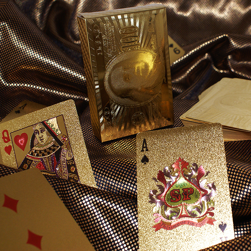 Plastic Gold Playing Cards
