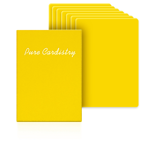 Pure Cardistry - YellowPure Cardistry (Yellow) Training Playing Cards (7 Packets)