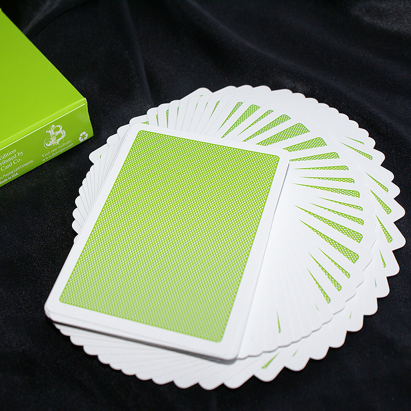 Steel Playing Cards - Green